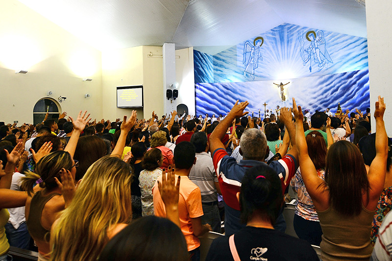 Celebração do Cerco de Jericó acontece na Minibasílica na última semana de julho. (Foto: Aquino José)