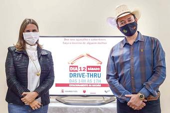 Letícia Lemos e Cuiabano Lima convidam barretenses para participar do drive-thru da Campanha do Agas