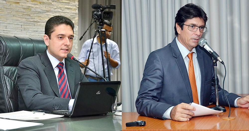 O presidente licenciado, Leandro Anastácio (à esq.), e o vereador Lupa, que assume interinamente a presidência