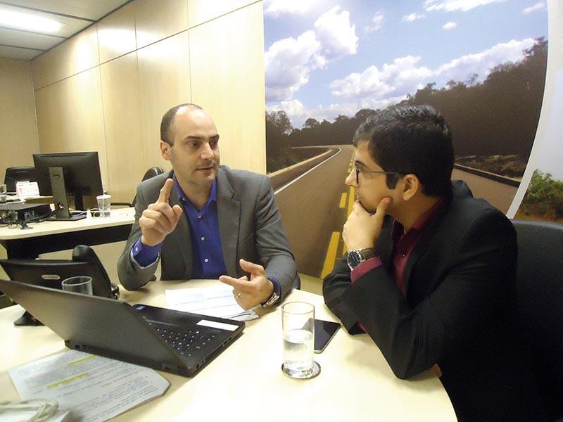 José Carlos Duarte recebeu o vereador barretense,  Raphael Dutra, na sede do DNIT em Brasília