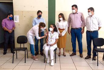 Iniciada em Barretos campanha de vacinação do Covid 19