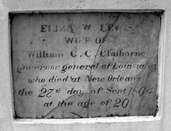 "ELIZABETH ""ELIZA"" CLAIBORNE (CLAIBORNE'S FIRST WIFE)"