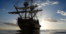 """THE PIRATE SHIP OF CAPT. JEAN LAFITTE (""""LA SOEUR CHÉRIE"""")"""
