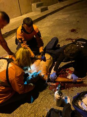 trauma patient with hatzalah students