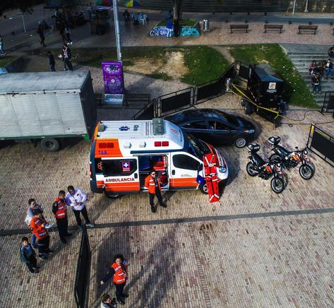 ambulance and staff