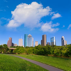 Huston skyline from Eleanor Tinsley park