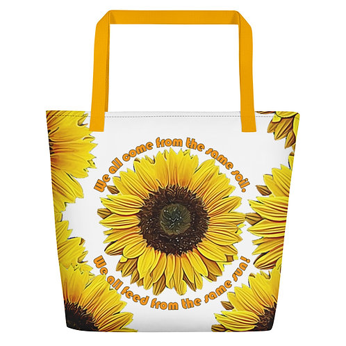 Same Soil, Same Sun Beach Bag