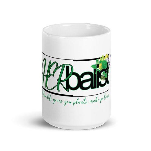 HERbalist White glossy mug