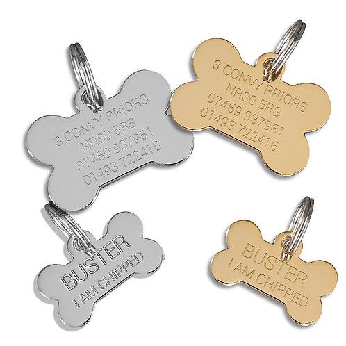 Dogs Name Tags Bone Shape