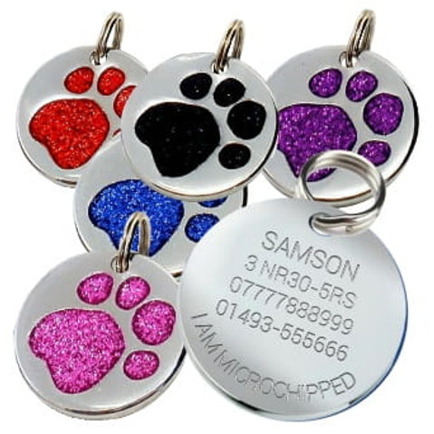Glitter Tags for Dogs