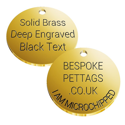 Solid Brass Dogs Name Tags