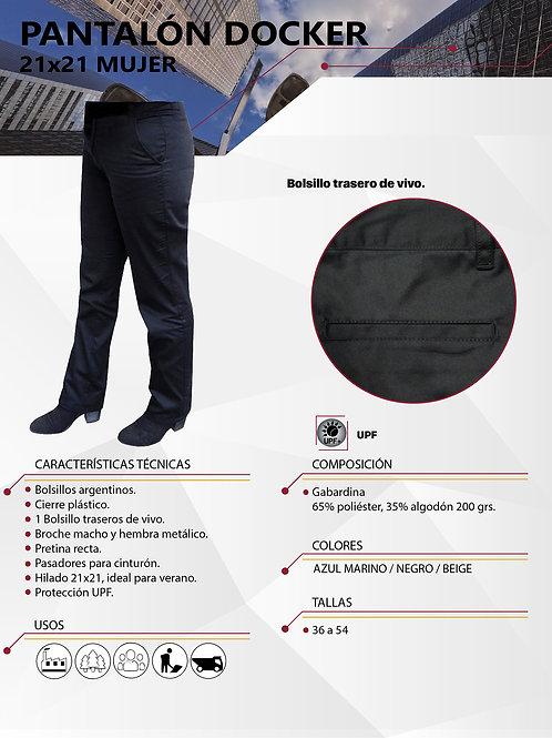 Pantalón Docker Hombre Hilado 21x21