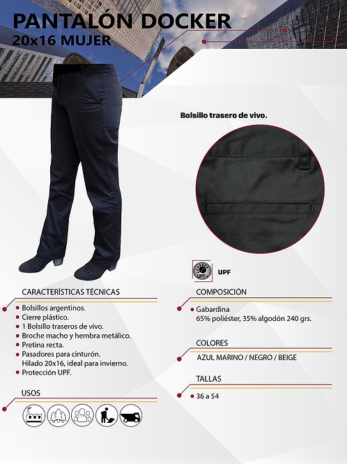 Pantalón Docker Hombre Hilado 20x16