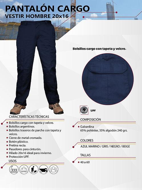 Pantalón cargo Hombre Hilado 20x16