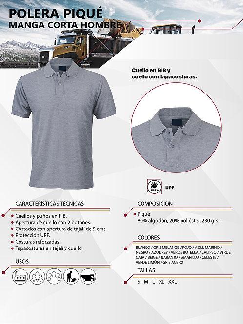 Polera Pique MC 80-20