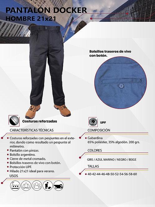 Pantalón Docker hilado 21x21