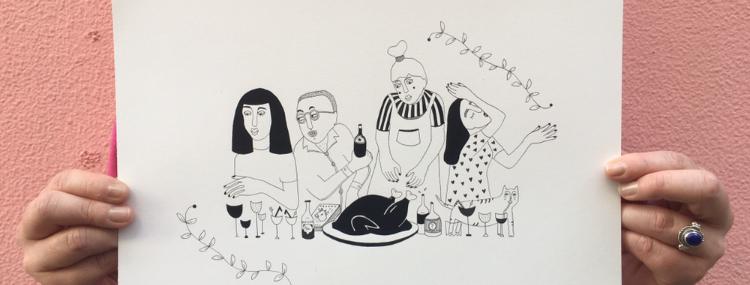 A4 Original drawing / Le buffet