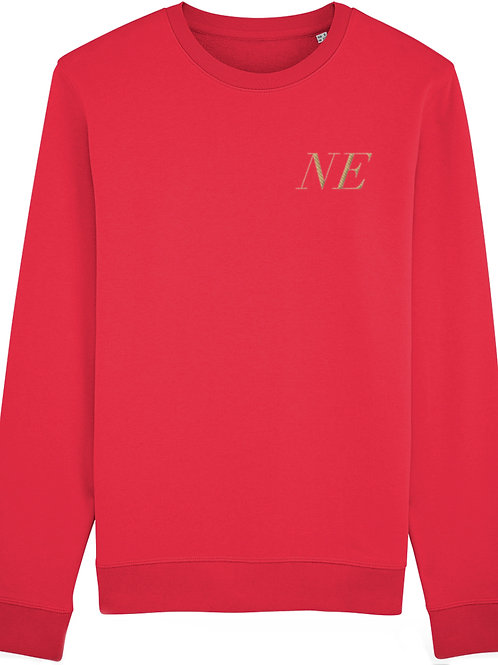 Personalised Premium Embroidered Red Unisex Sweatshirt