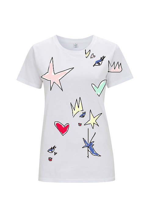Draw All Over White T-shirt