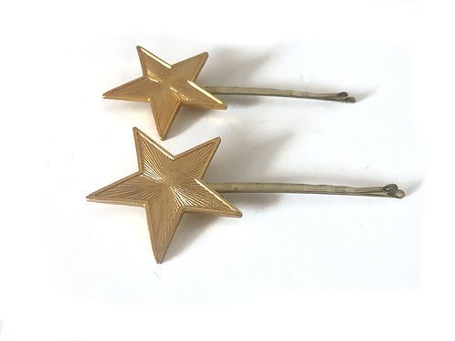 My Lucky Stars Gold Extra Large Hair Grips - Set of 2