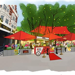 New Flamingo Champagne Garden lands in Chelsea