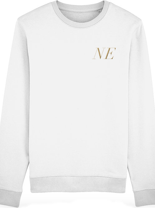 Personalised Premium Embroidered White Unisex Sweatshirt