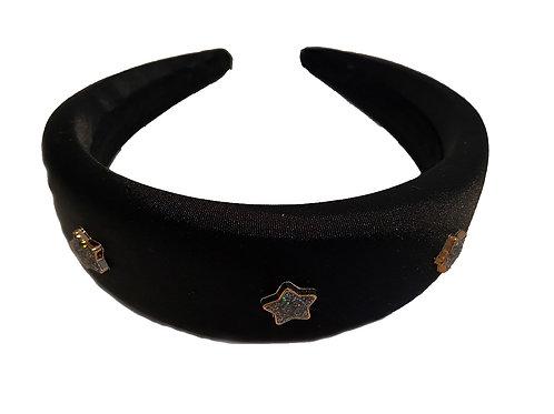Black Satin Star Crown