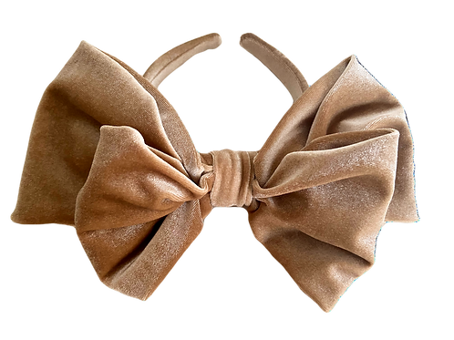 Royal Bow Velvet Crown