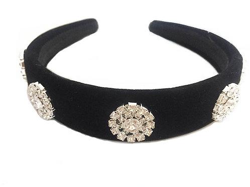 Black Velvet Royal Crystal Crown