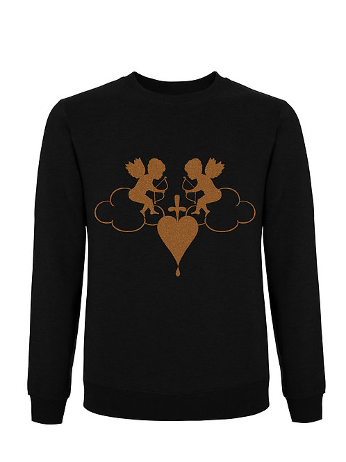 Cherub Burnt on Black Unisex Classic Sweatshirt