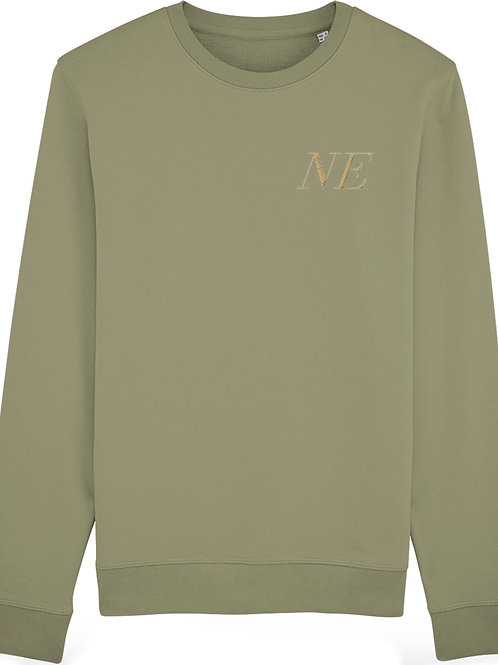 Personalised Premium Embroidered Sage Unisex Sweatshirt