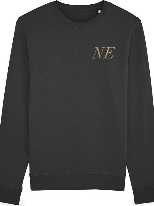 Personalised Premium Embroidered Black Unisex Sweatshirt
