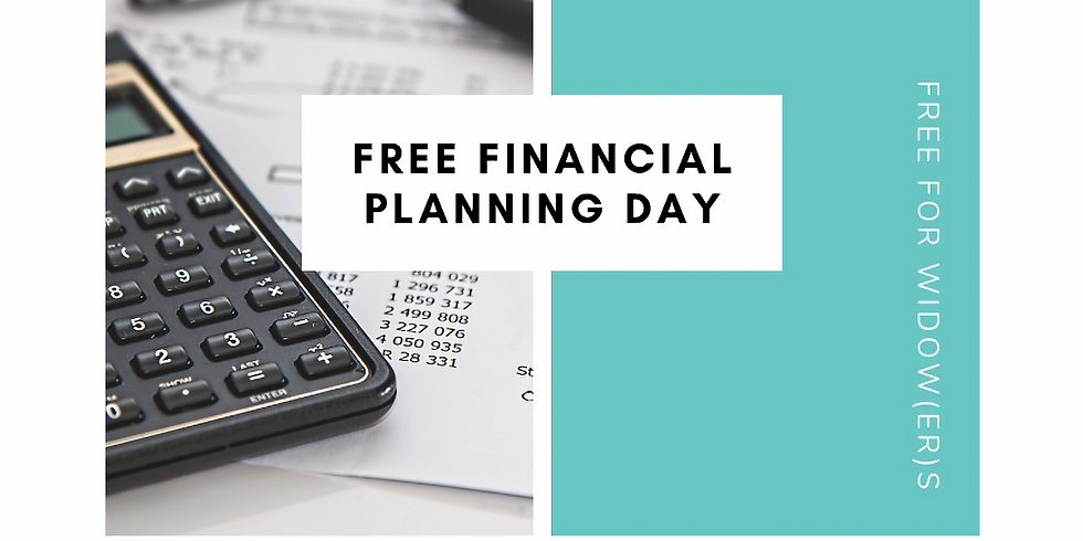 Free Foundational Financial Plan- Widow(er) One on one Sessions