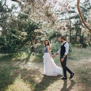 photo du jour du mariage d'un couple
