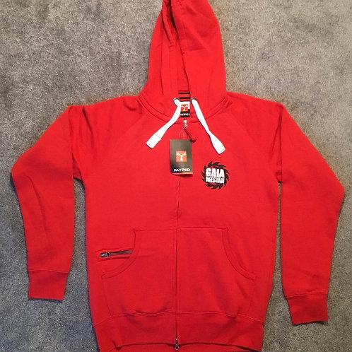 Gaia Mesiah Hoodie/mikina s kapucí Červené/Red (Unisex)