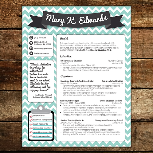Chevron Resume Template
