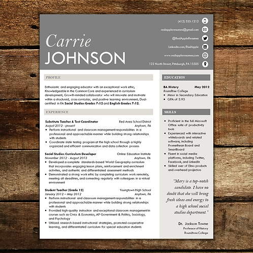 London Fog Resume Template