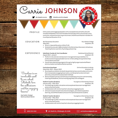 Bunting Resume Template