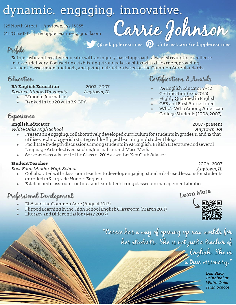 creative resume templates custom resume service for teachers opensky1 png