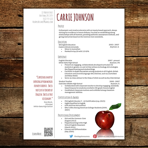 Reflection Resume Template