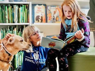 Paws & Think library event coming up April 24