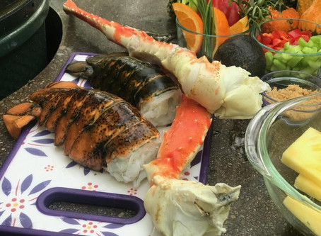 Andrew Caplinger's seafood-on-a-roll