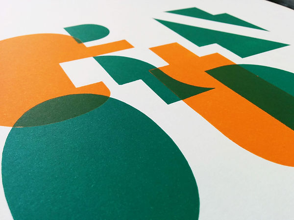 Background letterforms