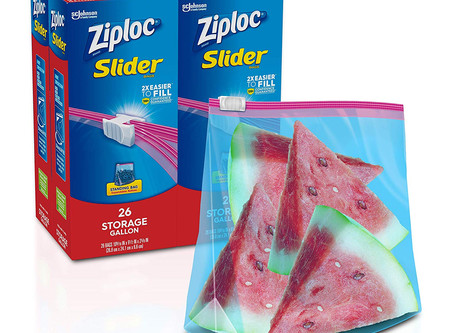 Ziploc Slider Stand-and-Fill Storage Bags, Gallon, 26 Count, Pack of 4 (104 Total Bags)