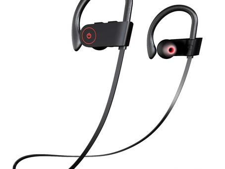 Bluetooth Headphones IPX7 Waterproof, Wireless Sport Earphones
