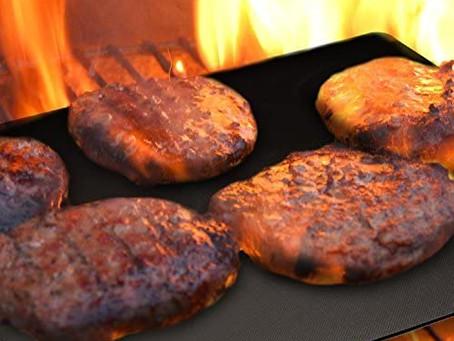 GrillMagic Grill Mat - Set of 3 Heavy Duty BBQ Grill Mats - Nonstick BBQ Grill & Baking Mats