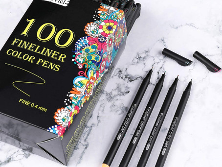 Dyvicl Fineliner Fine Point Pens, 100 Colors 0.4mm