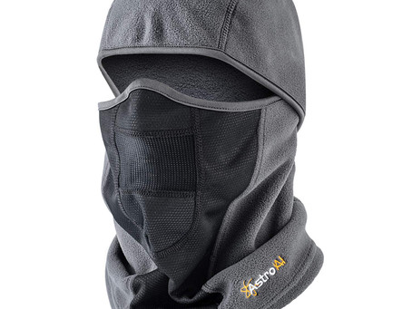 AstroAI Ski Mask Winter Balaclava Windproof Breathable Face Mask (Superfine Polar Fleece, Gray)