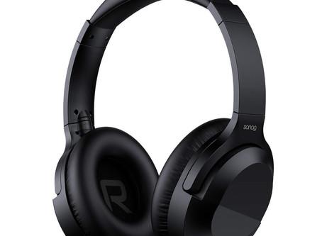 SANAG Bluetooth Wireless Headset, Bluetooth 5.0 Hi-Fi Stereo Earphones with Microphone