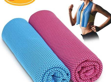 """Comsoon 2 Pack Cooling Towel 40""""x12"""", Soft Breathable Microfiber"""